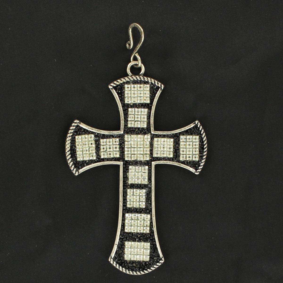 Blazin Roxx Large Cross with Crystals Pendant