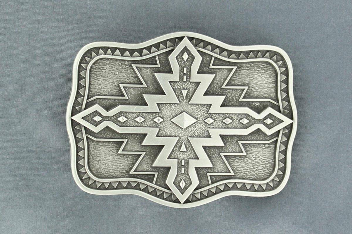 Nocona Rectangle Aztec Buckle