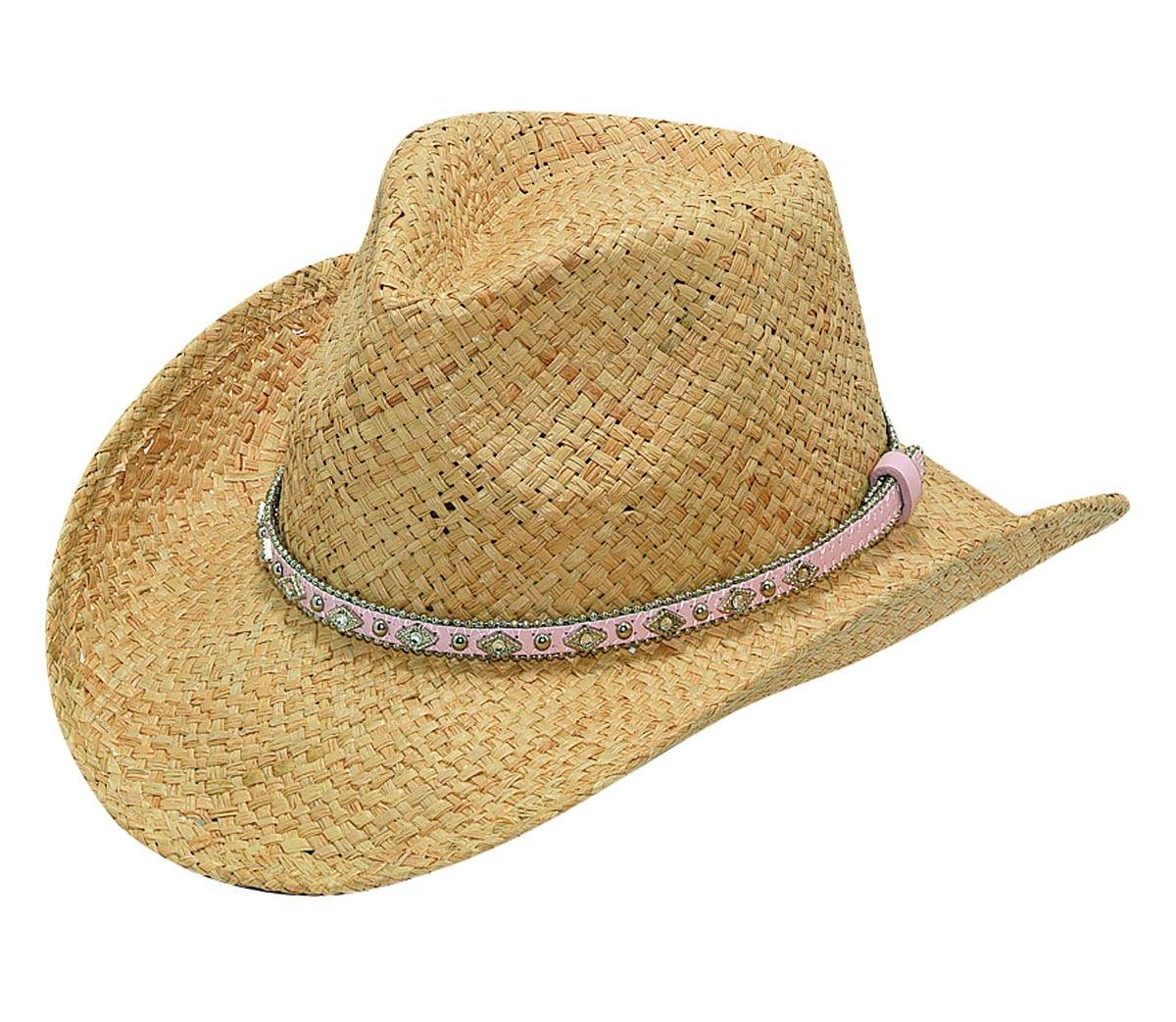Blazin Roxx Girls' Raffia Straw Hat