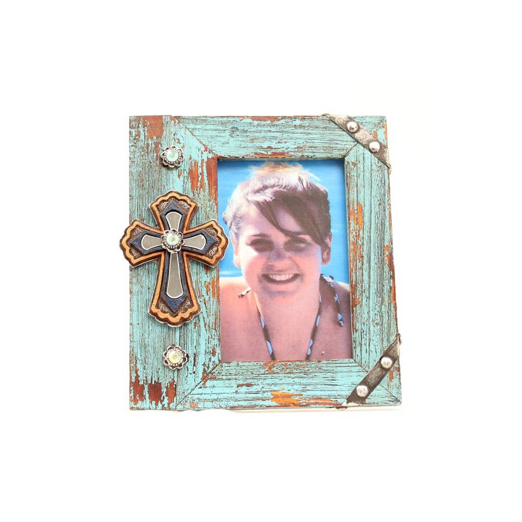 Western Moments Cross/Wood Photo Frame