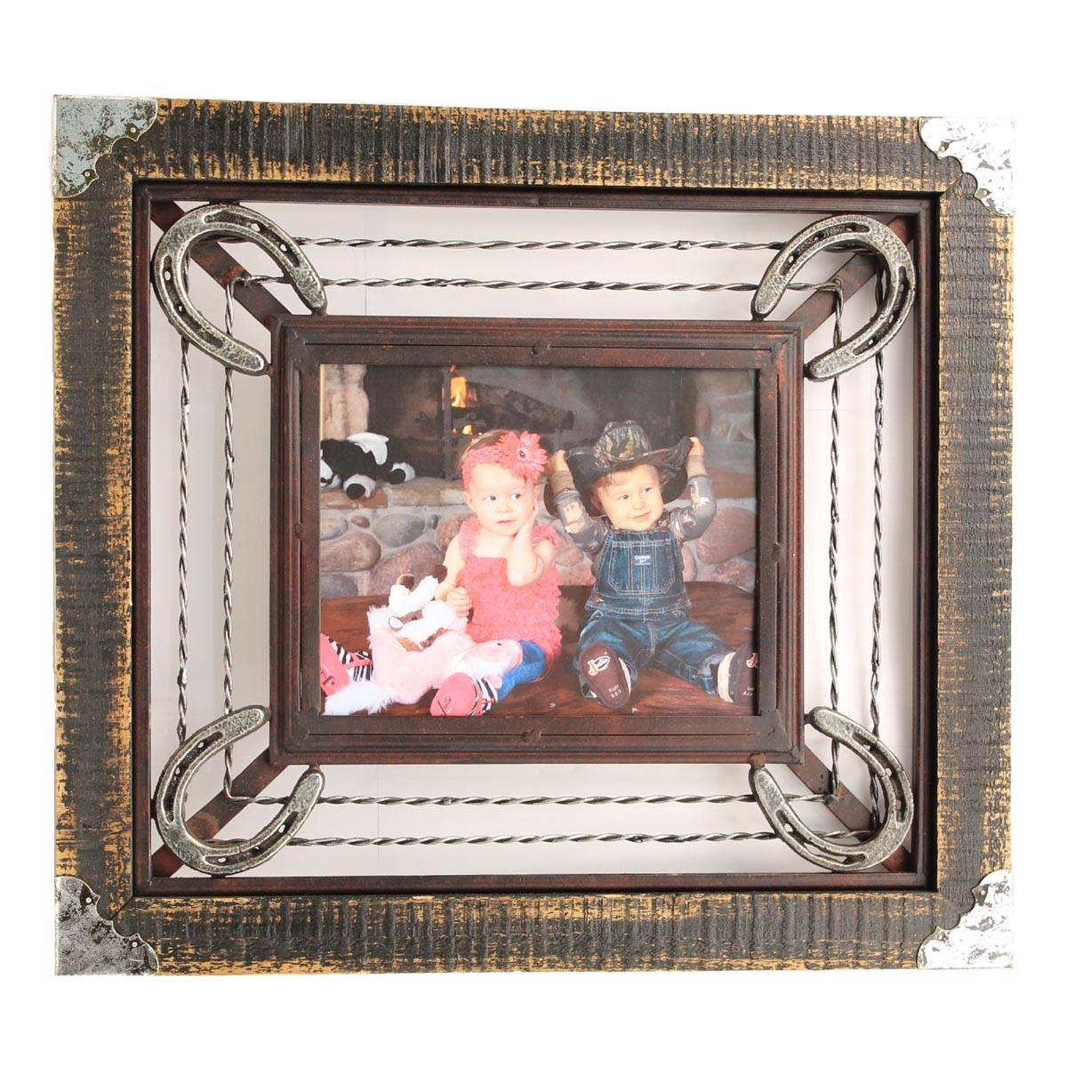 Western Moments Metal Horseshoe Frame