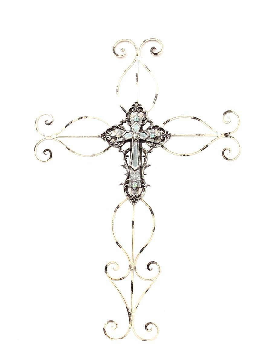 Western Moments Wire Cross/Mirror