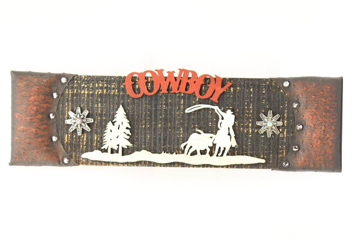 Western Moments Cowboy Wooden Sign