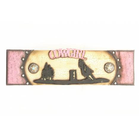 Western Moments Cowgirl Wooden Sign