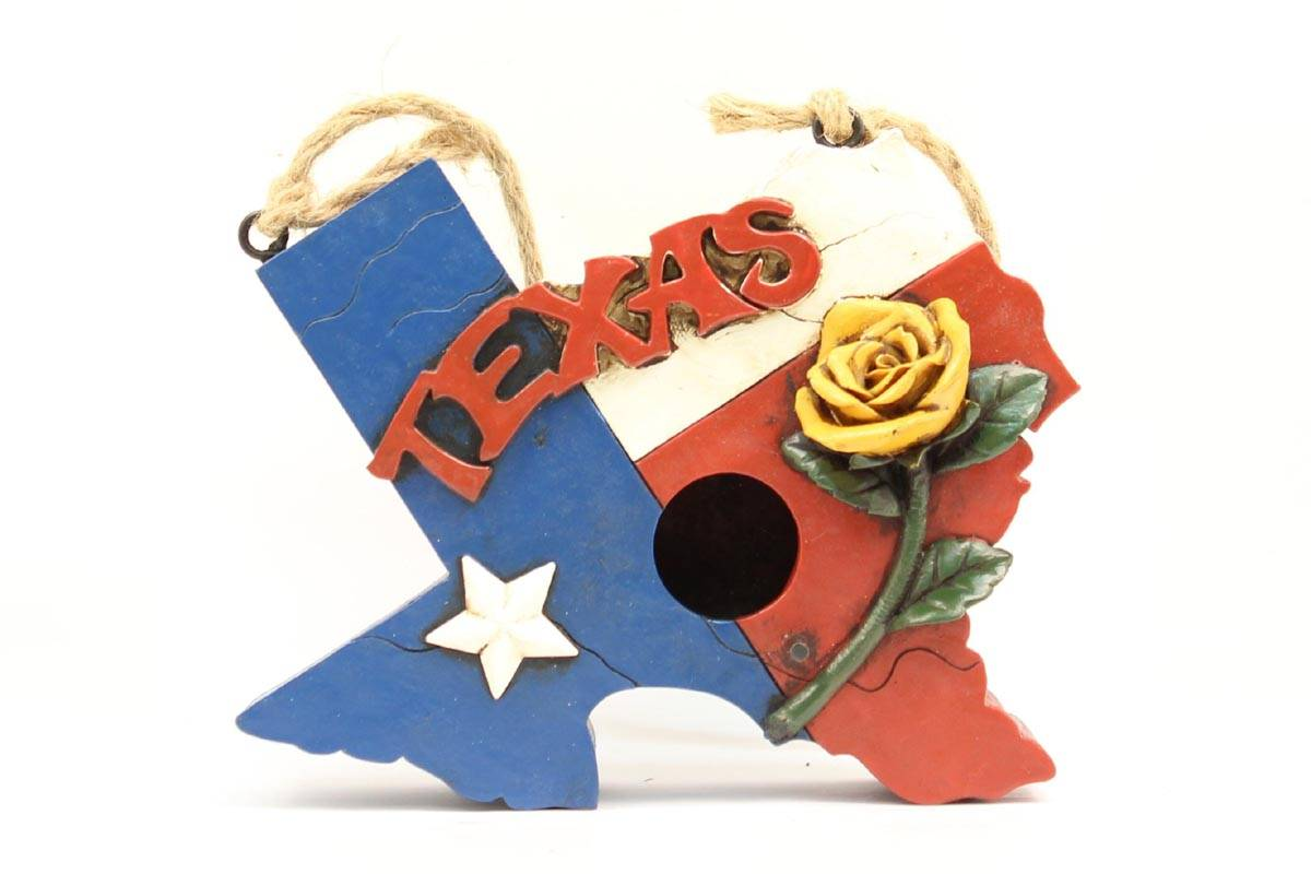 Western Moments Texas Shaped Birdhouse