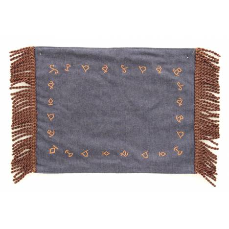 Western Moments Branded Denim Placemats