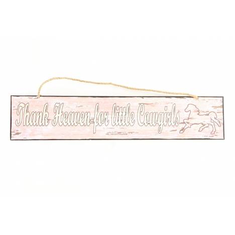 Western Moments Thnk Hvn Girl Metal Sign