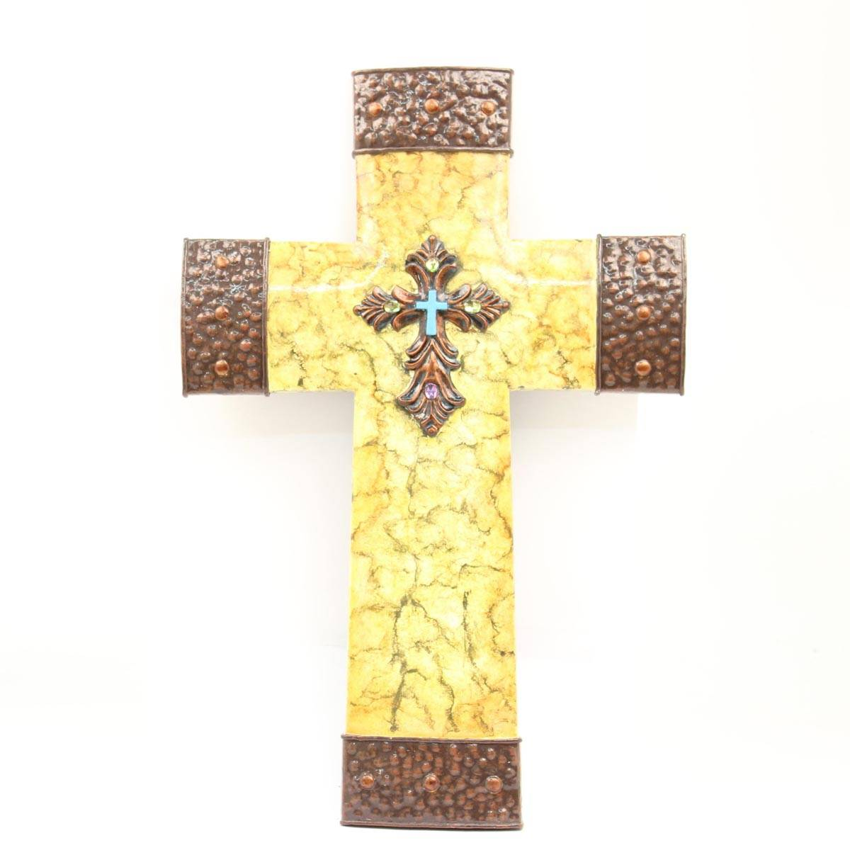 Western Moments Dual Tone Wall Cross