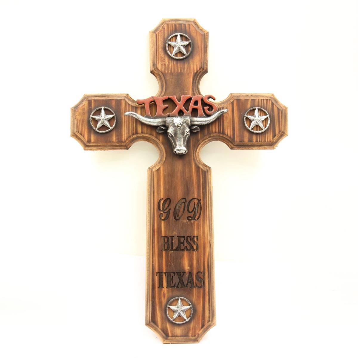 Western Moments Wooden Texas Cross