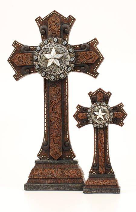 Western Moments Star Concho Table Cross Set
