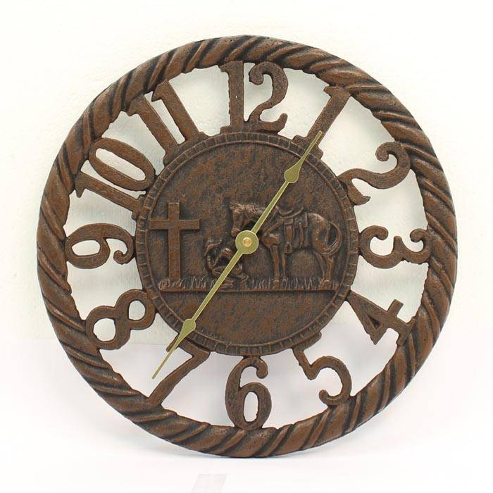 Western Moments Cowboy Prayer Clock