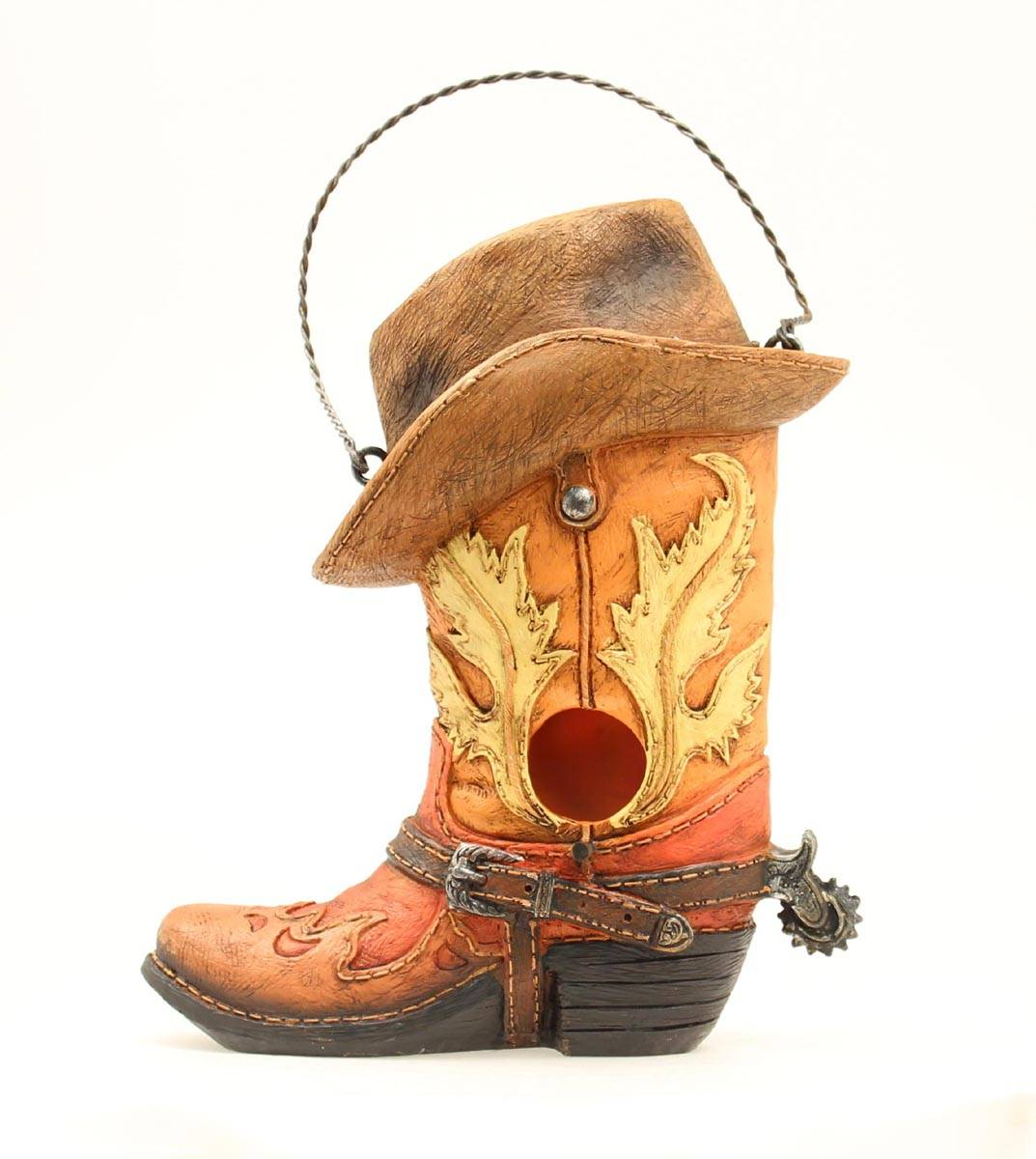 Western Moments Boot//Hat Birdhouse