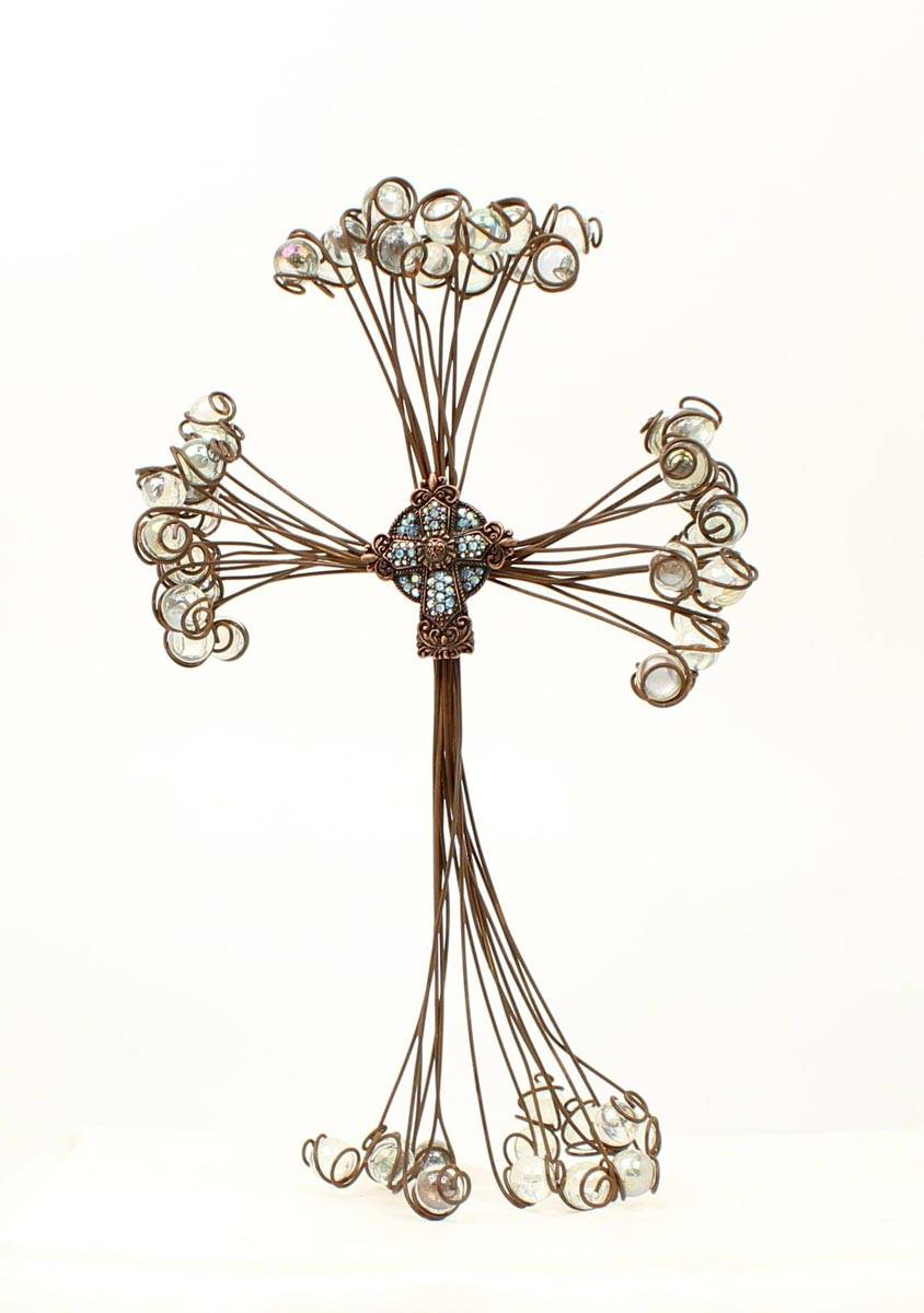 Western Moments Wire Marble Wall Cross