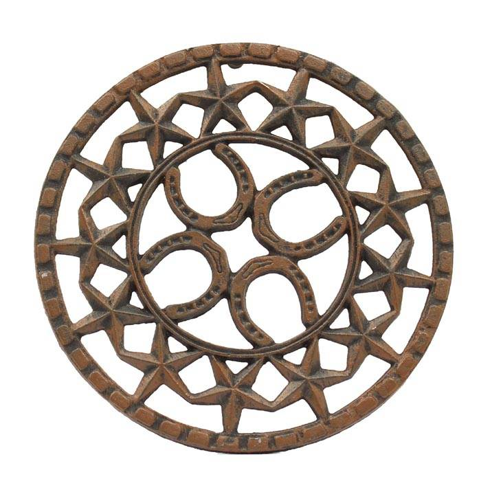 Western Moments Horseshoe/Star Round Trivet