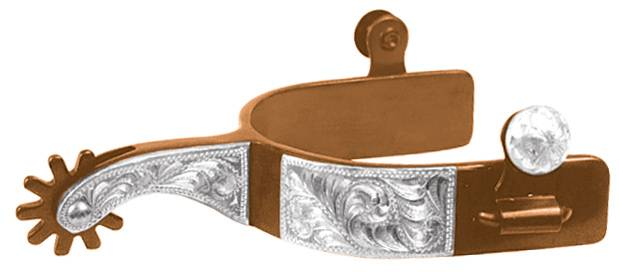 ABETTA Mens Antiqued Show Spurs with Sterling Silver