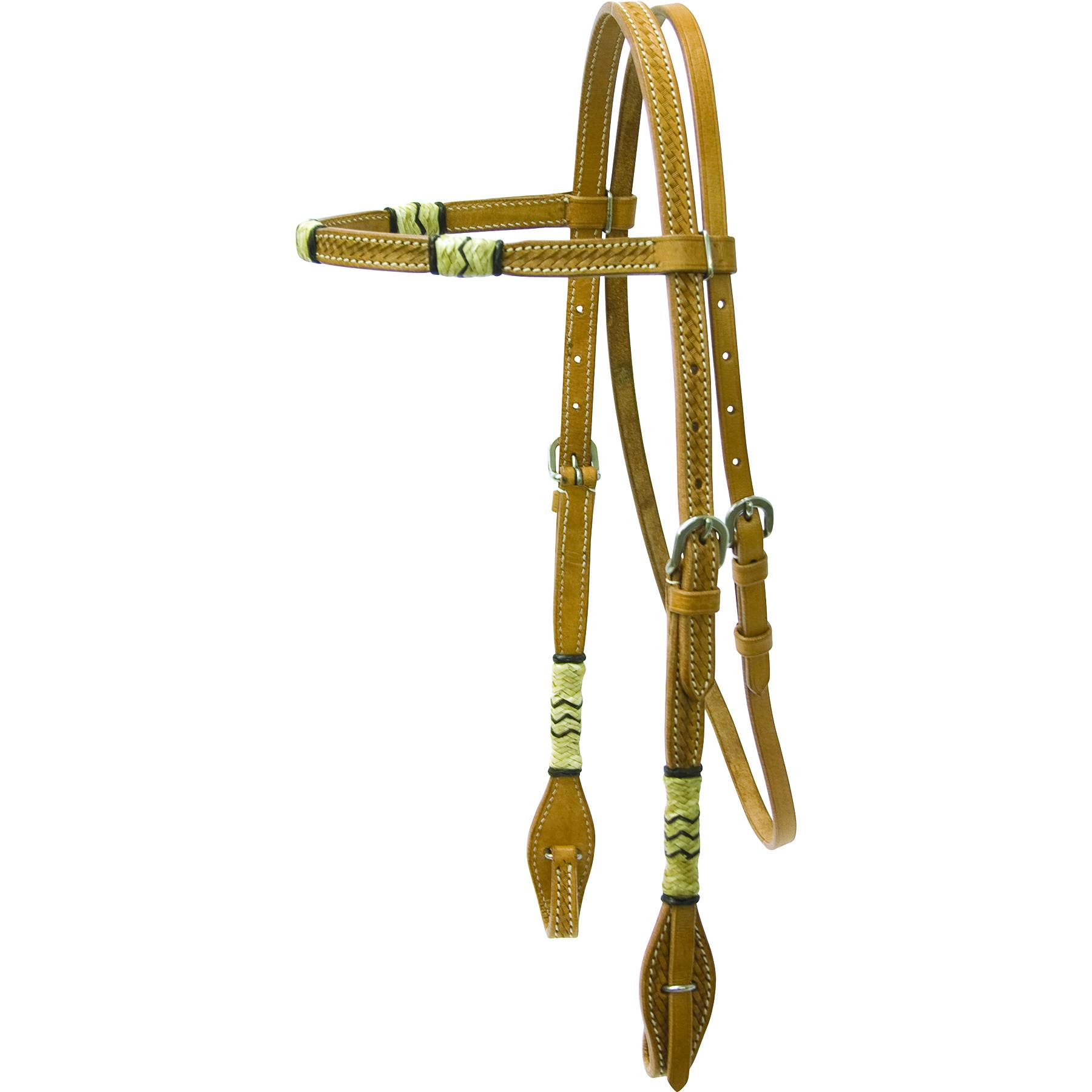 Cowboy Pro Browband Headstall with Rawhide