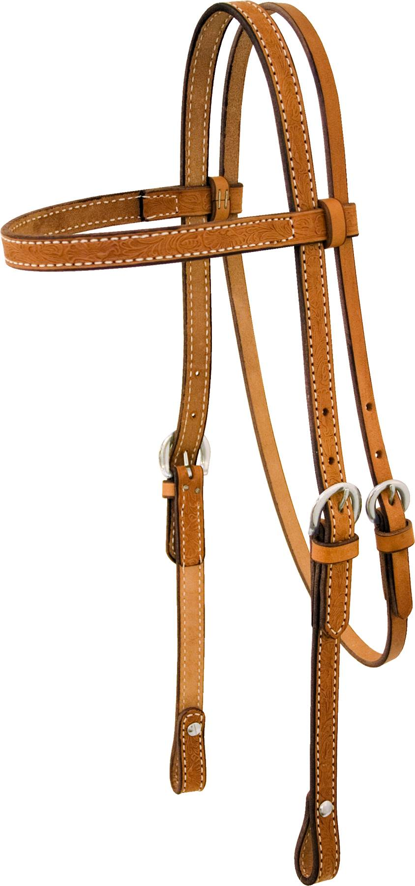 Billy Cook Saddlery Floral Tooled Browband Headstall