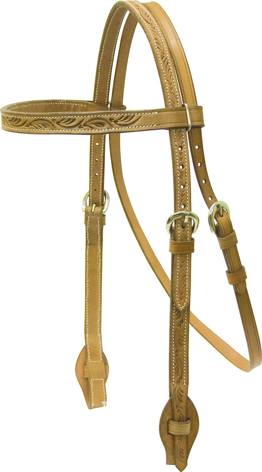 Cowboy Pro Browband Headstall Floral Tooled