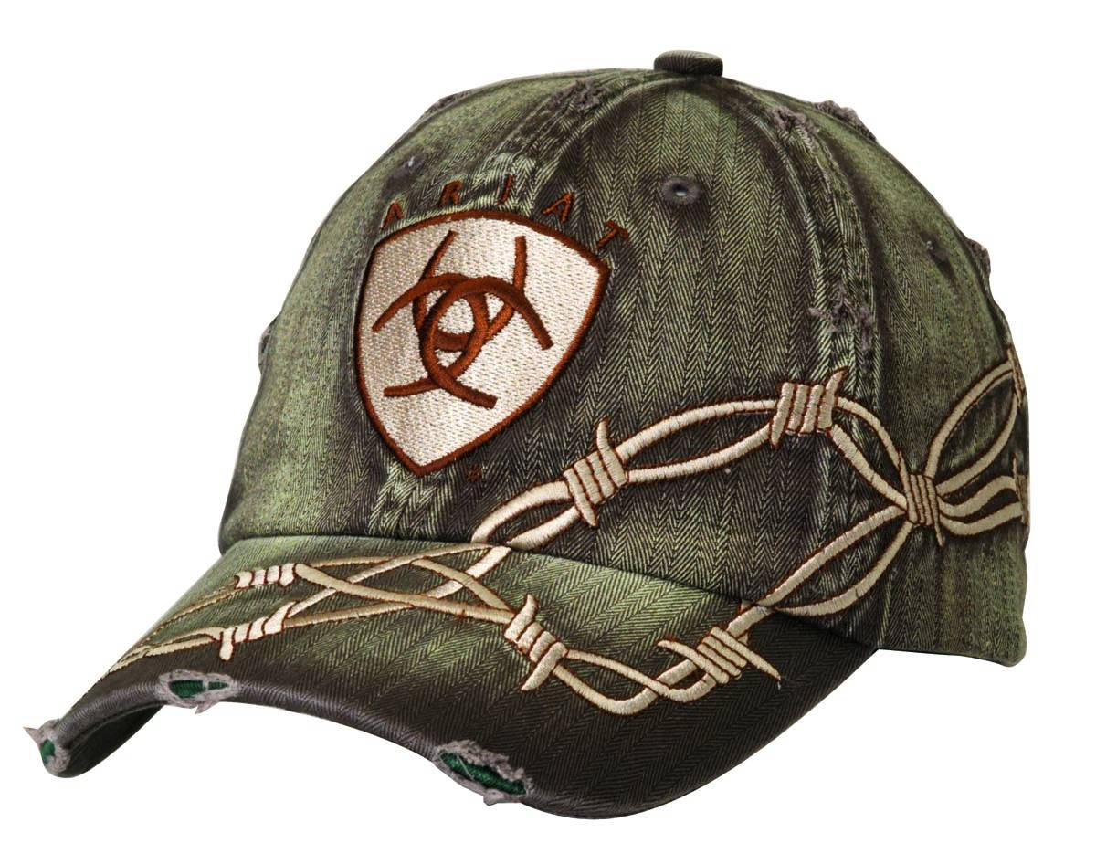 ARIAT Men's Ariat Logo with Barbwire Cap
