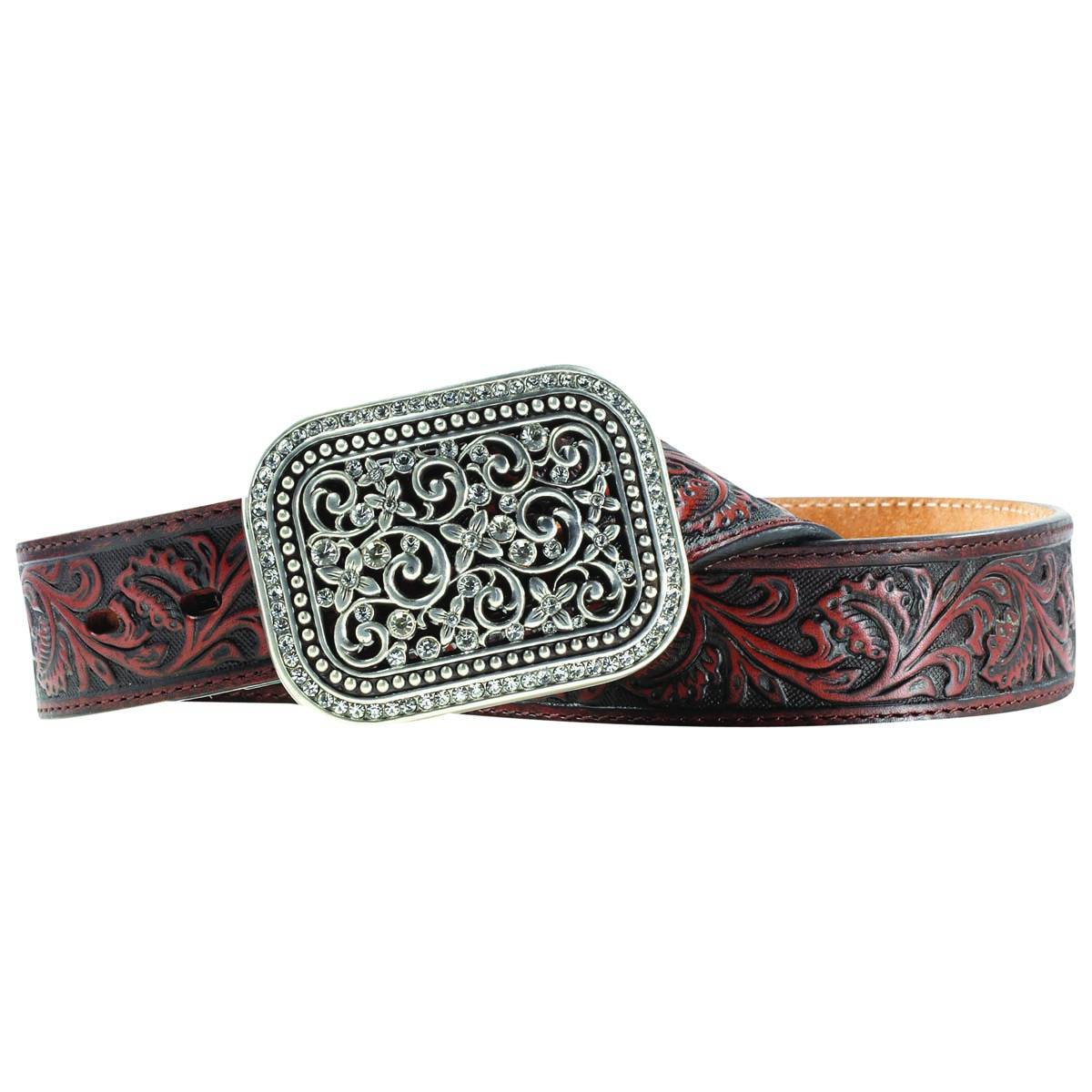 ARIAT Women's Filigree Rhinestone Belt