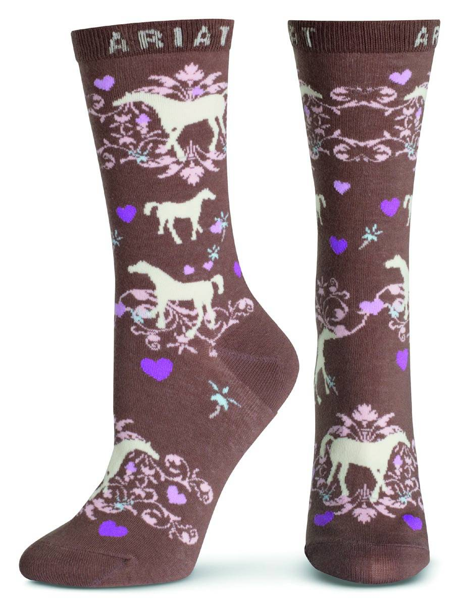 ARIAT Women's Horse Love Crew Sock