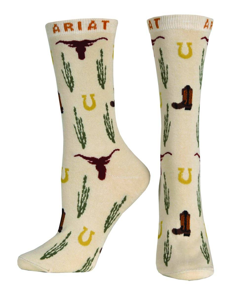 ARIAT Women's West Icon Crew Sock