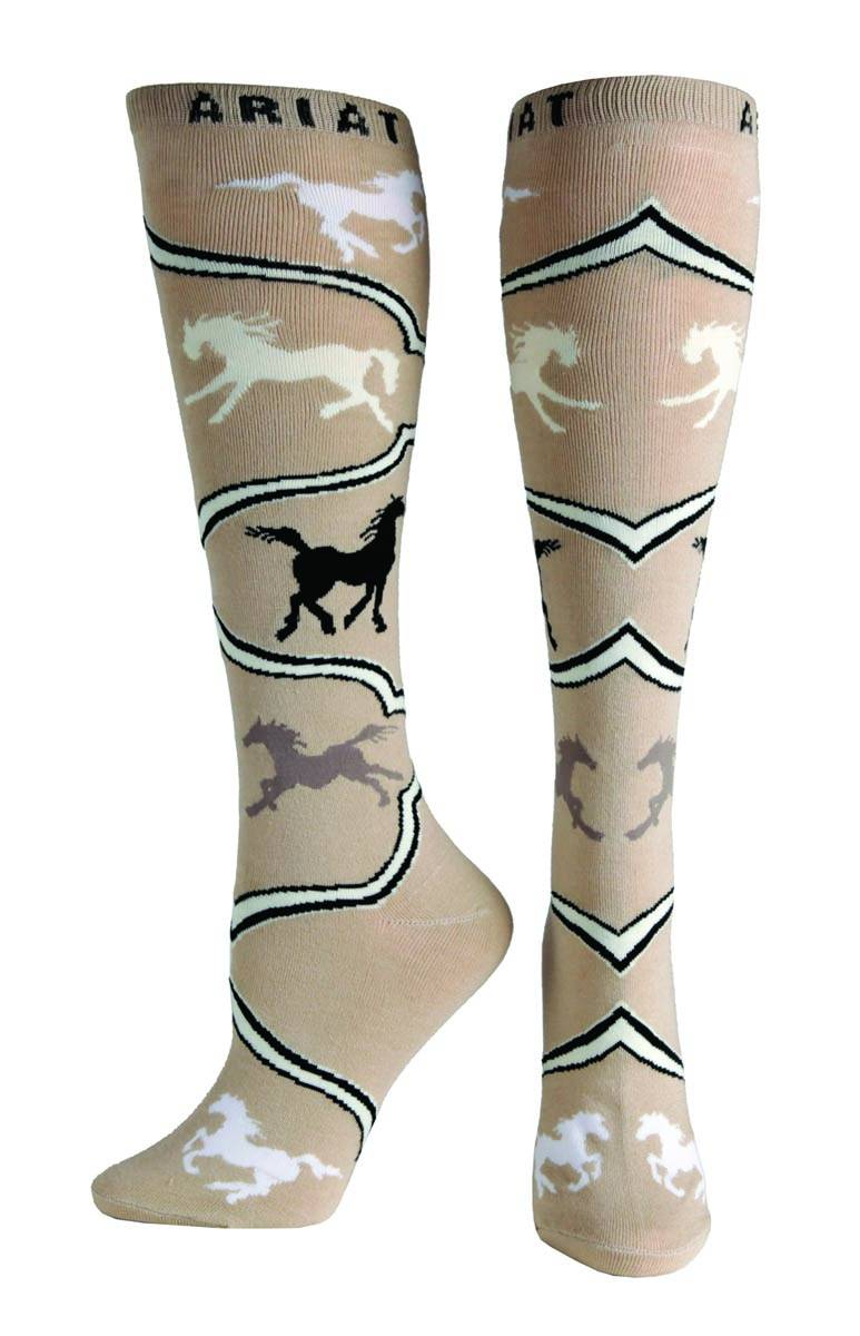 ARIAT Women's Spirit Horse Knee Sock