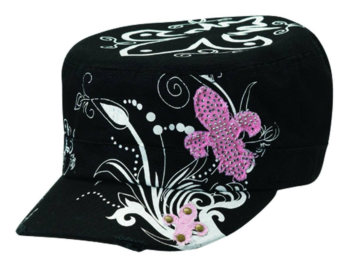 Blazin Roxx Ladies Graphic with Fleur De Lis Military Cap