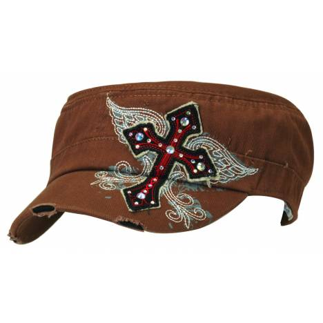 Blazin Roxx Ladies Military Bling Cross Cap