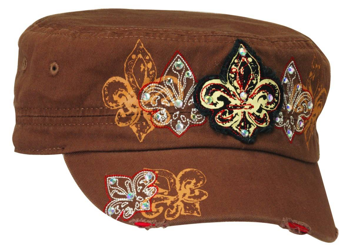 Blazin Roxx Embroidred with Fleur De Lis Military Cap