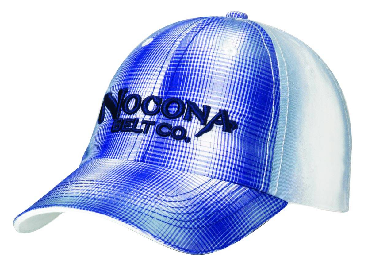 Nocona Plaid Front Raised Logo Cap