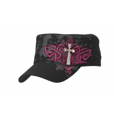 Blazin Roxx Ladies Graphic Cross Military Cap