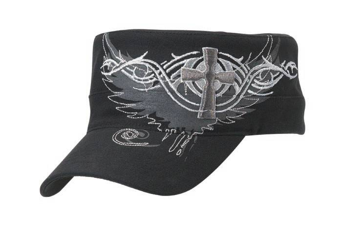 Blazin Roxx Ladies Graphic Cross/Wing Military Cap