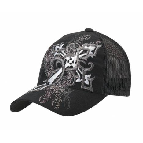 Blazin Roxx Ladies Diagonal Cross Flex Fit Cap
