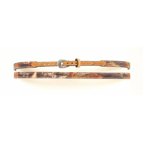 M&F Western Camo Leather Buckled Hatband