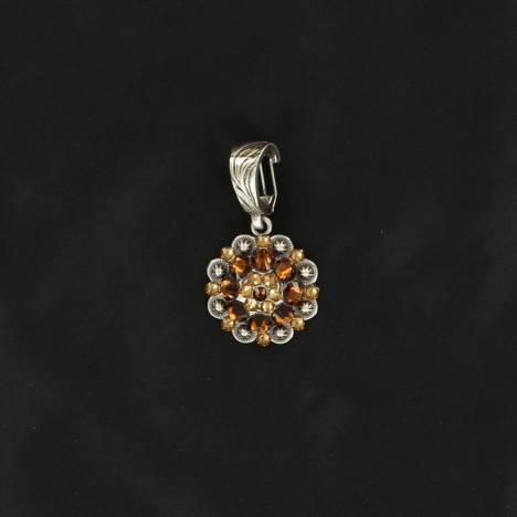 Western Charm Berry Crystal Concho Pendant
