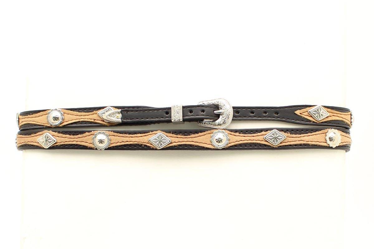 M&F Western Men's Diamond & Overlay Hatband