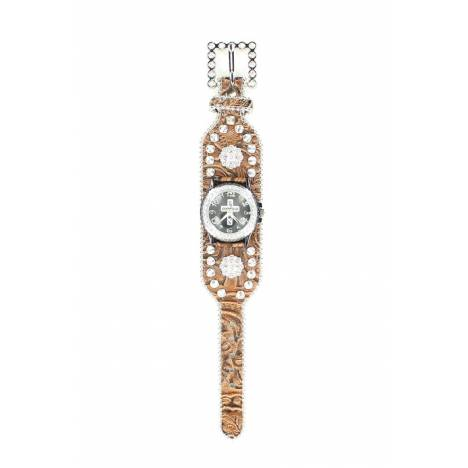 Blazin Roxx Womens Crystal Cross and Concho Watch