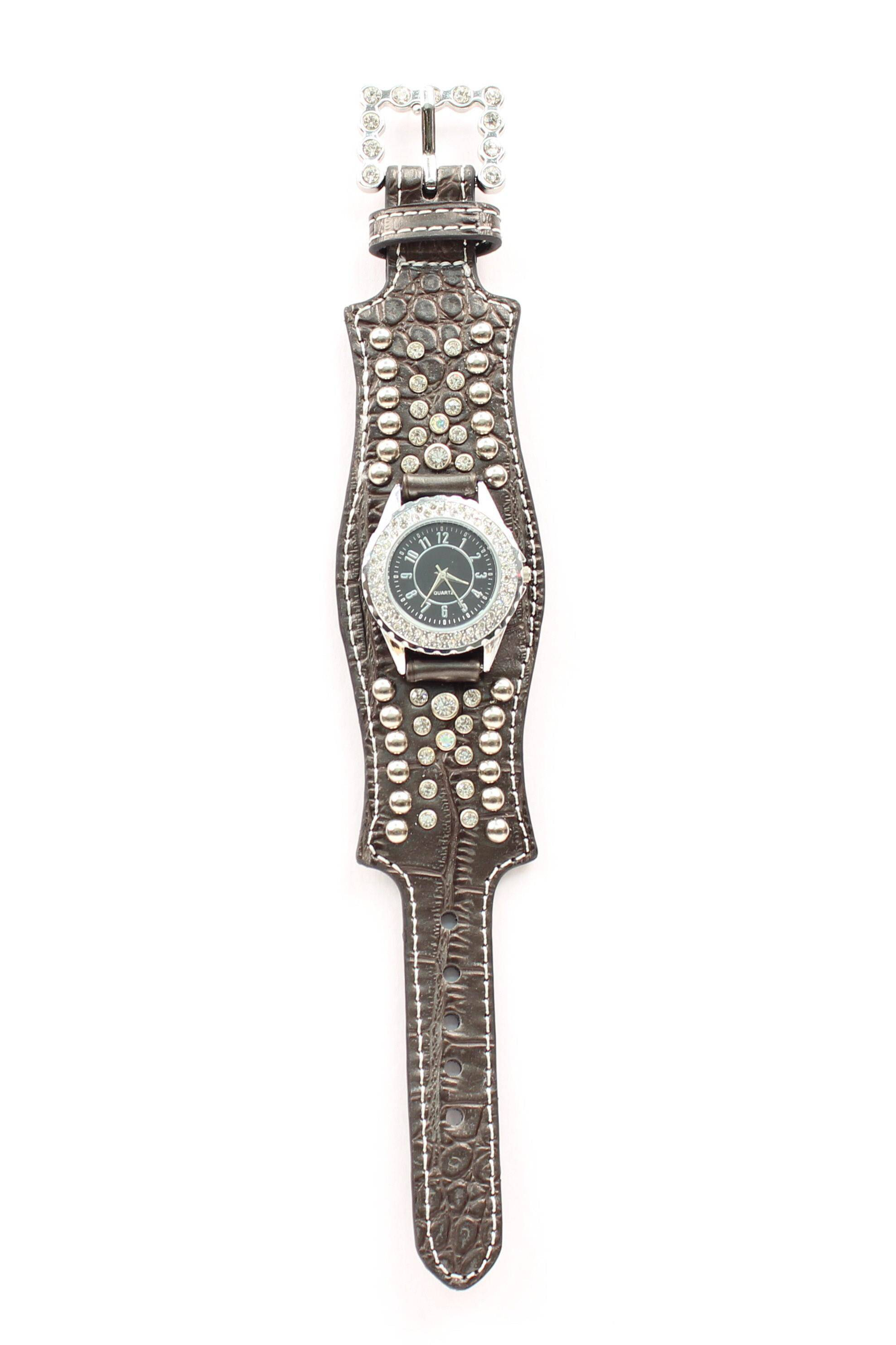 Blazin Roxx Women's Scallop Crystal Watch