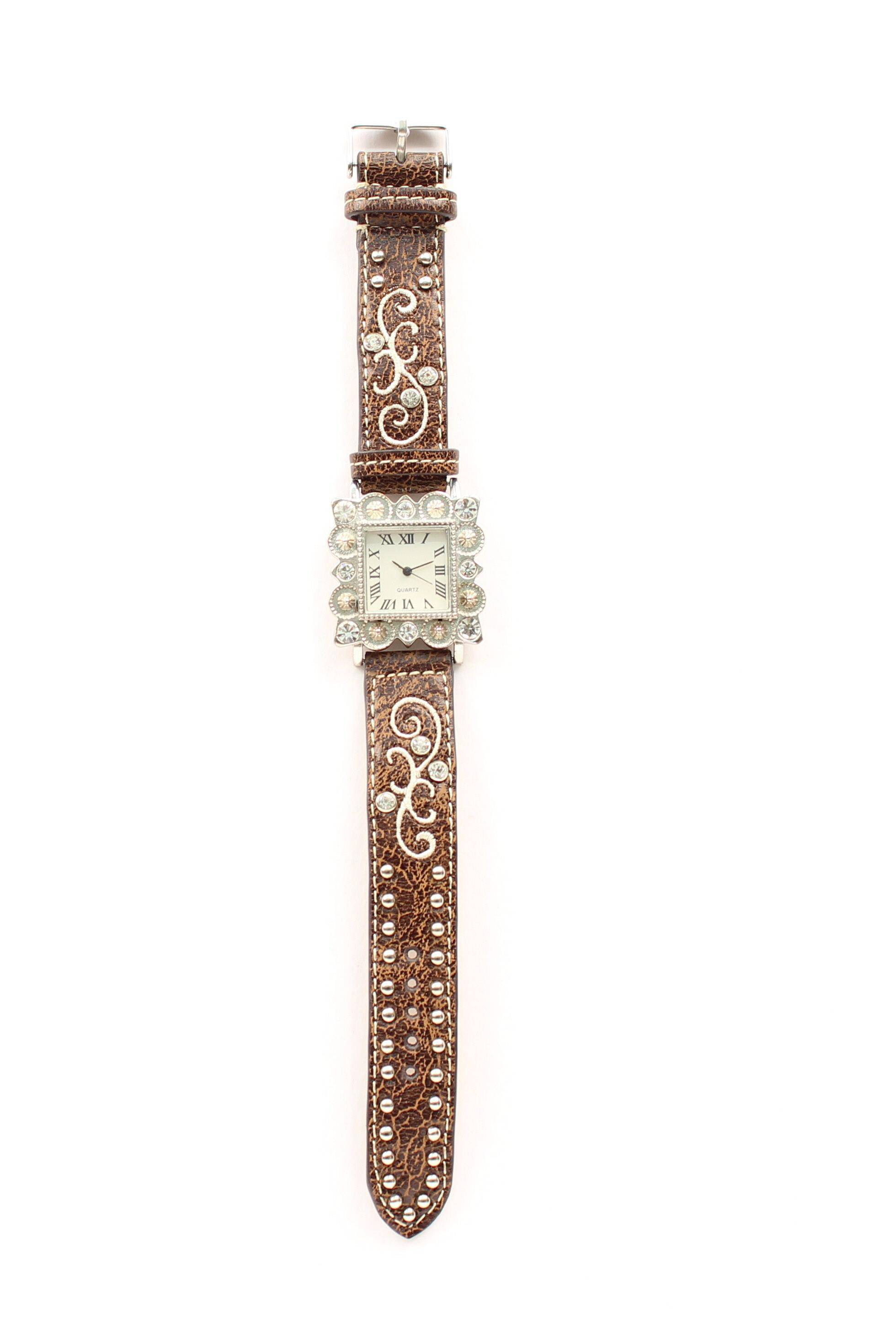 Blazin Roxx Women's Square Crystal Watch