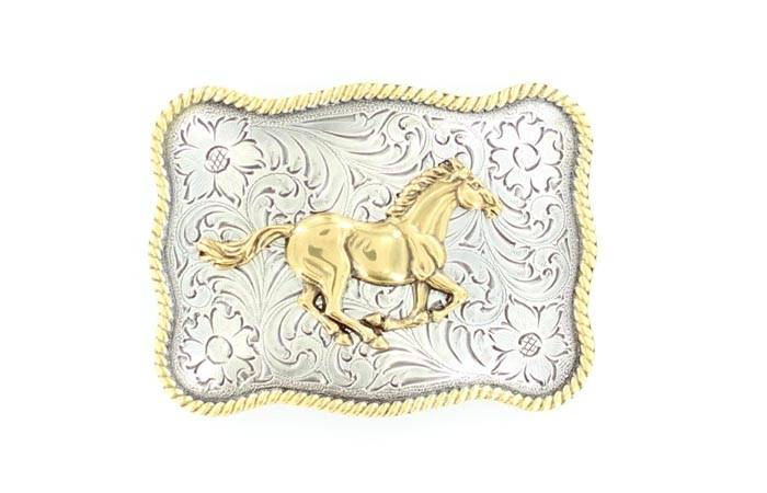 Nocona Womens Running Horse Buckle