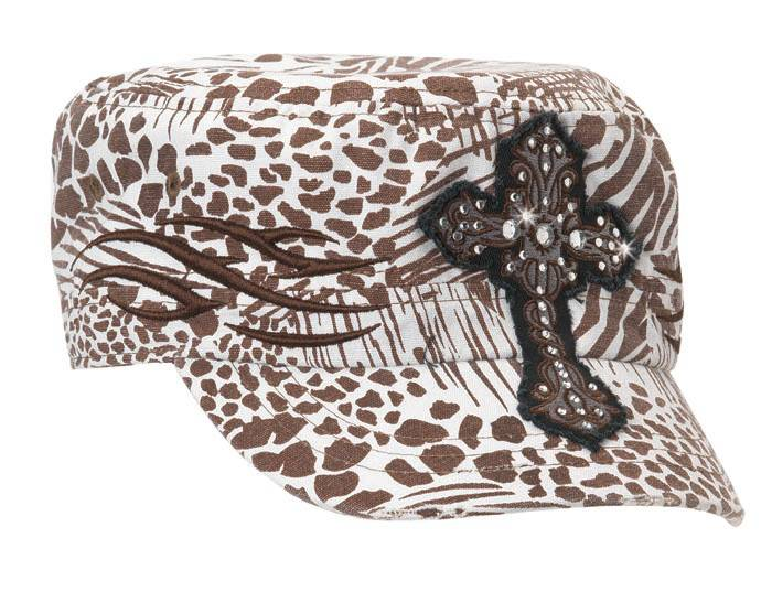 Blazin Roxx Ladies Animal Print Military Cap