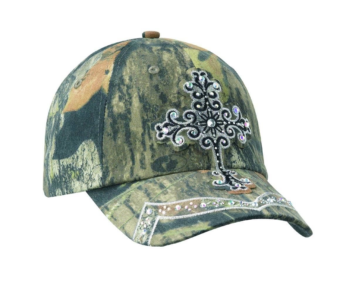 Blazin Roxx Fancy Crystal Cross Camo Cap