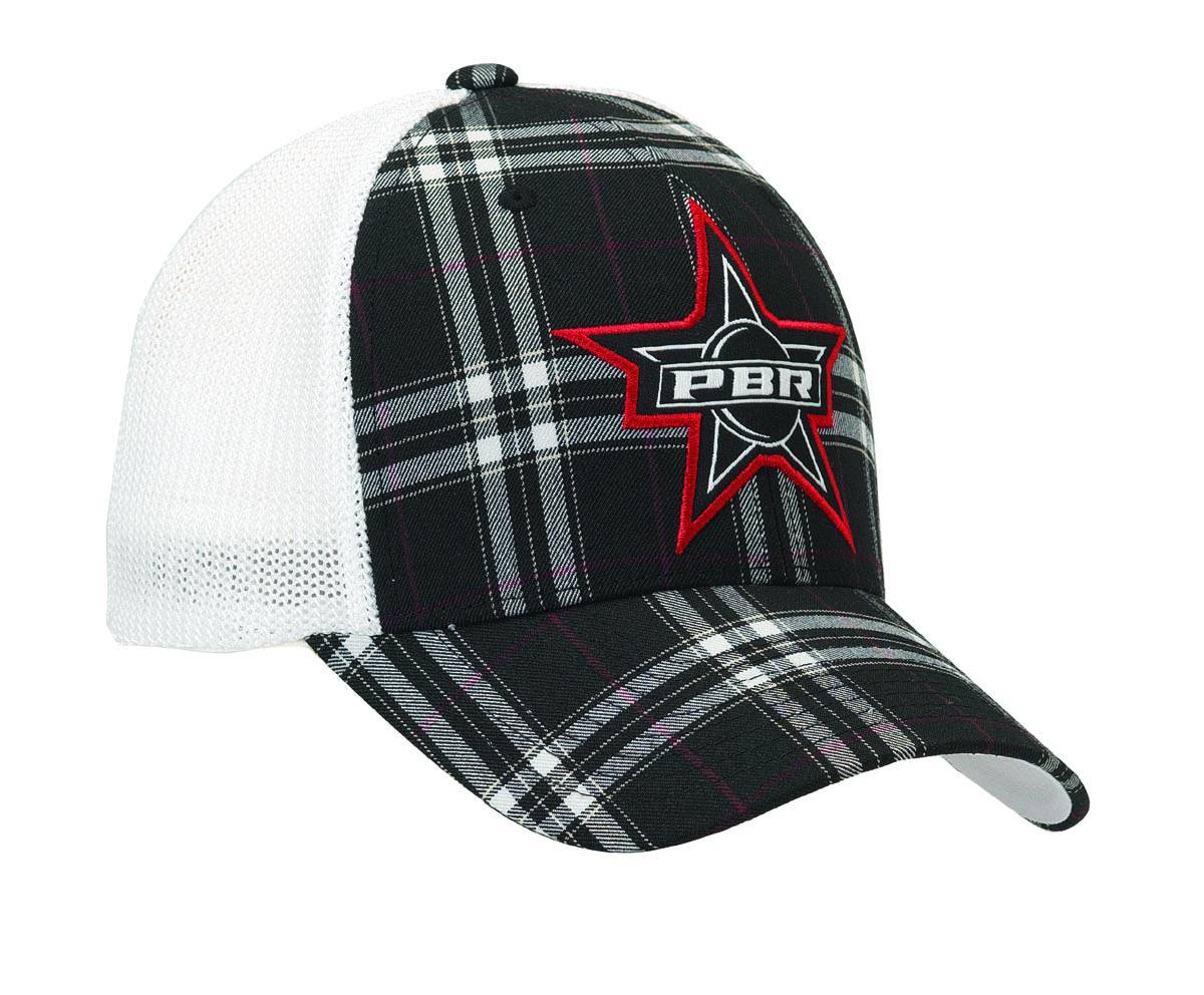 PBR Men's Star Flex Fit Plaid Cap