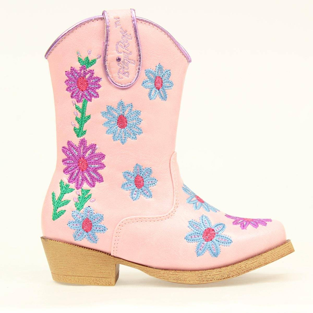 Blazin Roxx Toddler Zip Daisy SnipToe Boot