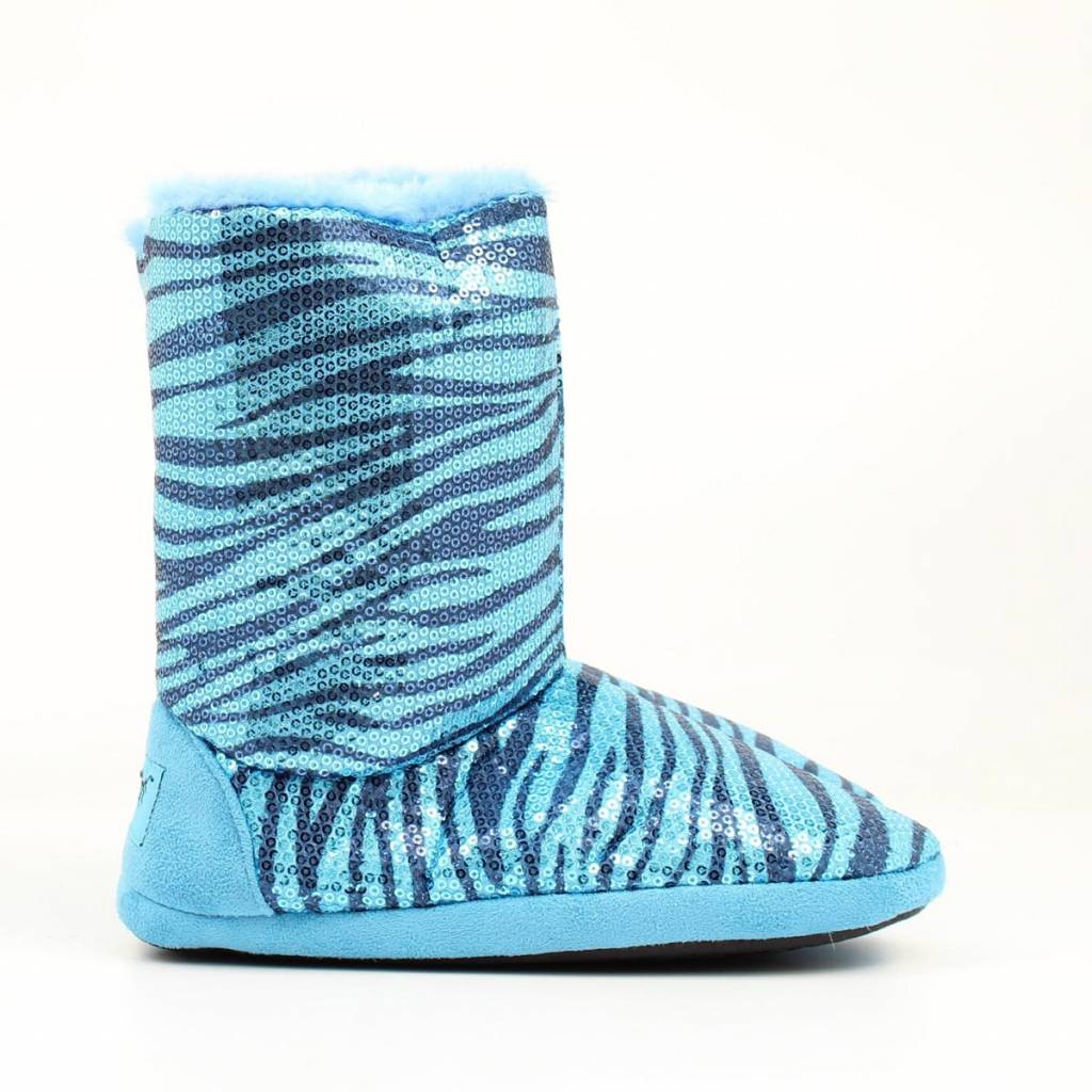 Blazin Roxx Ladies Sequin Zebra Boot Slipper