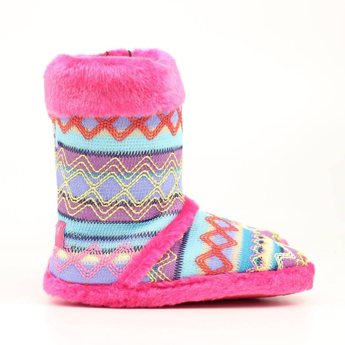 Blazin Roxx Ladies Knit Print Boot Slipper