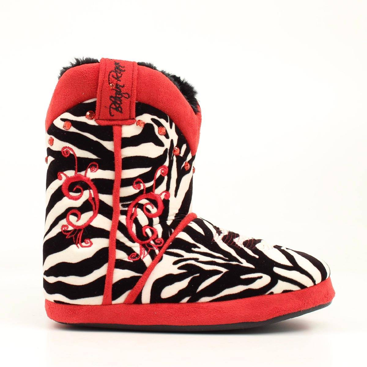 Blazin Roxx Ladies Leopard/Stitching Boot Slipper