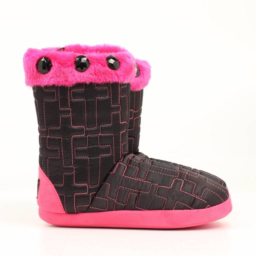 Blazin Roxx Ladies Quilt Cross Boot Slipper