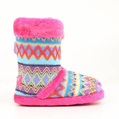 Blazin Roxx Youth Knit Print Boot Slipper
